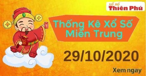 Thống kê XSMT thứ 5 ngày 29/10/2020 - Phân tích KQ miền Trung hôm nay