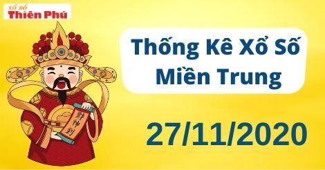 Thống kê XSMT thứ 6 ngày 27/11/2020 - Phân tích KQ miền Trung hôm nay