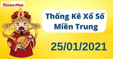 Thống kê XSMT thứ 2 ngày 25/01/2021 - Phân tích KQ miền Trung hôm nay
