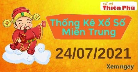 Thống kê XSMT thứ 7 ngày 24/07/2021 - Phân tích KQ miền Trung hôm nay